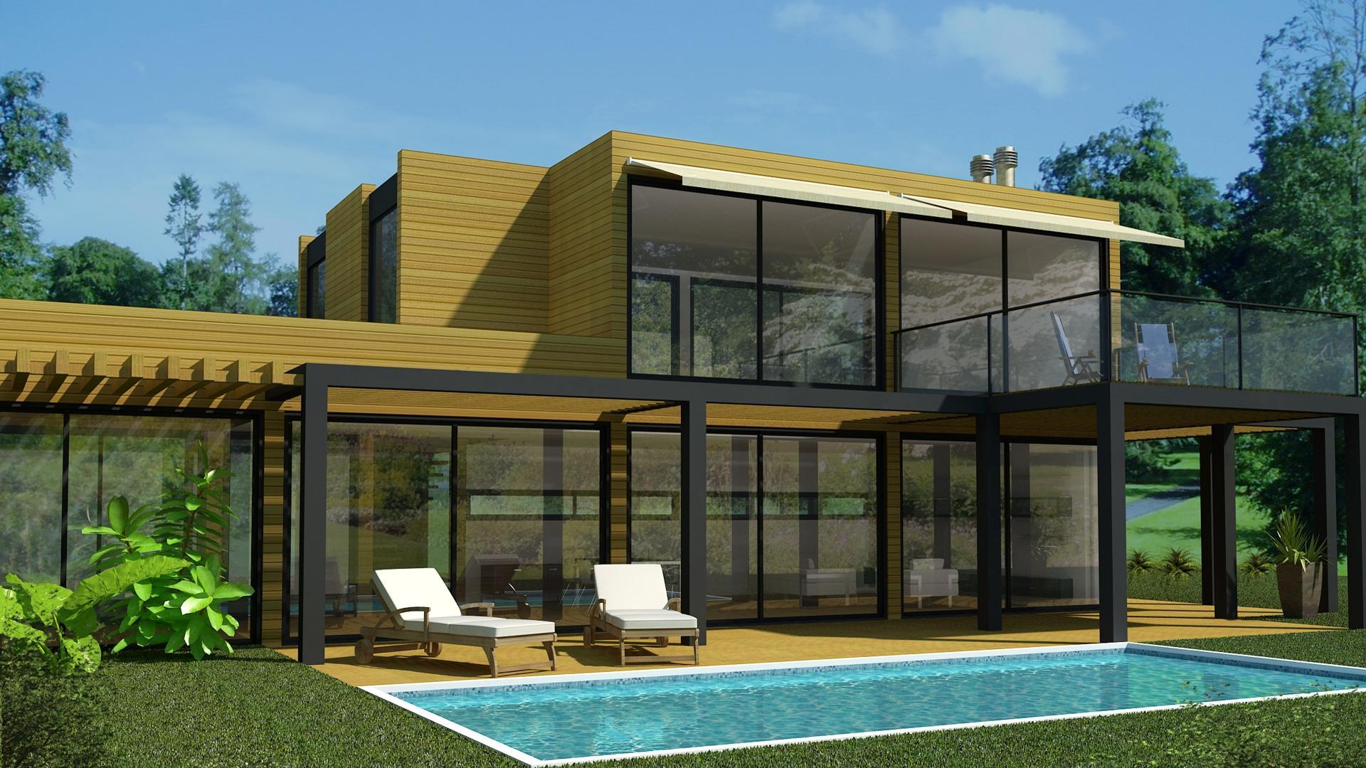 projectos de arquitectura de casas modulares